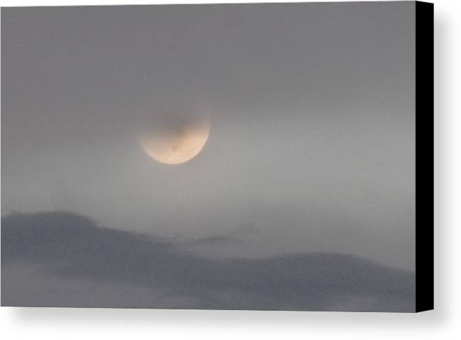 Scenic Tours Canvas Print featuring the photograph Pastel Moonrise by Skip Willits