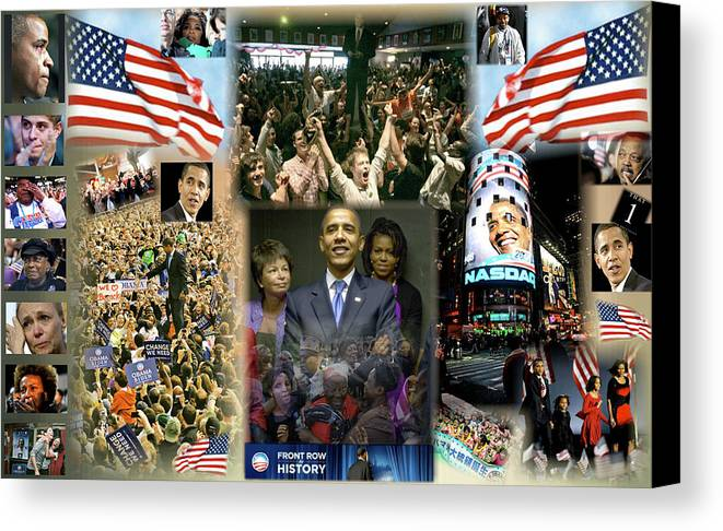 Barack Canvas Print featuring the digital art Respectfully Yours..... Mr. President by Terry Wallace