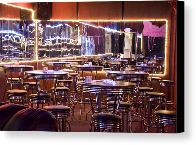 Club Canvas Print featuring the photograph Retro by Jessica Wakefield
