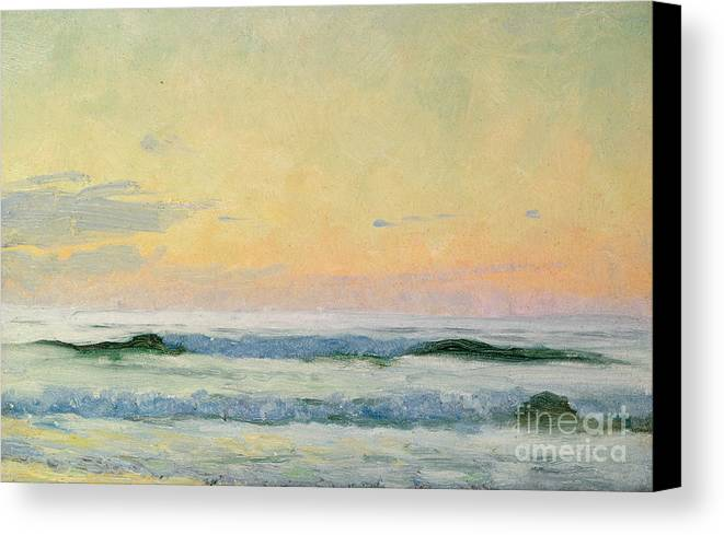 Seascape Canvas Print featuring the painting Sea Study by AS Stokes