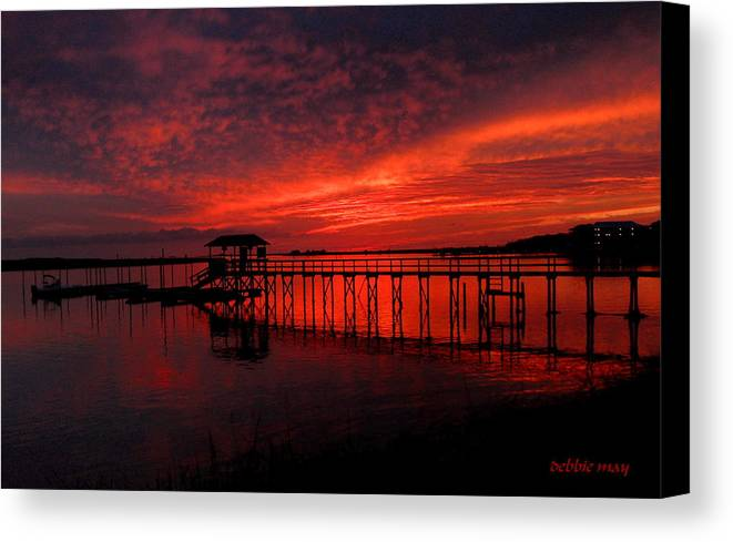 Sunset Canvas Print featuring the photograph Seeing Is Believing-6 Years Later 2 by Debbie May