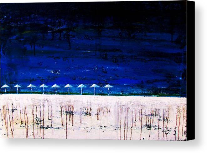 South Beach Canvas Print featuring the painting South Beach by Steffen Anderson