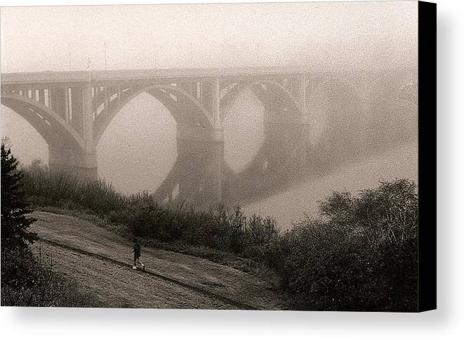 Nature Canvas Print featuring the photograph The Jogger by Arnold Isbister