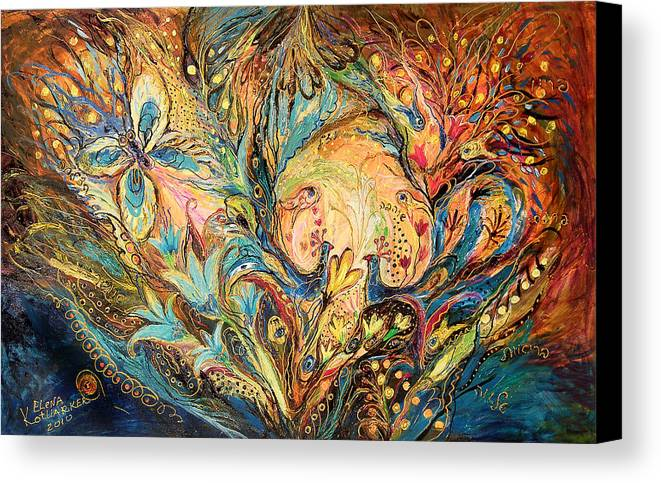 Original Canvas Print featuring the painting The Sea Soul by Elena Kotliarker