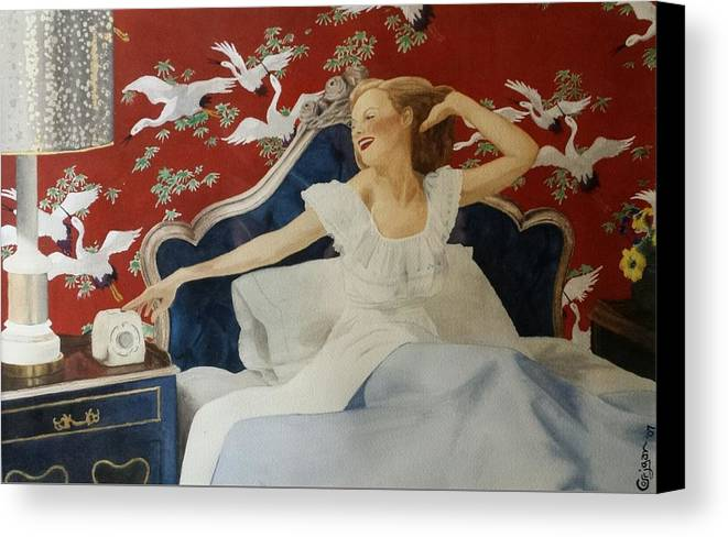 Portrait Canvas Print featuring the painting Rise And Shine by David Corrigan