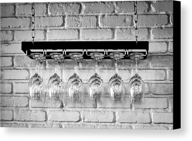 Glasses Canvas Print featuring the photograph Wine Glasses by David Kay
