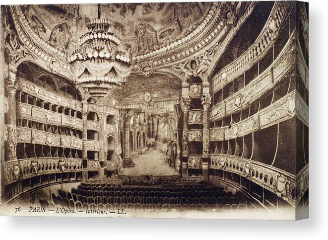 19th Century Canvas Print featuring the photograph Paris Opera House by Granger