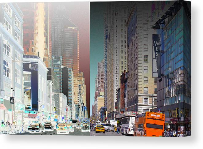 Nyc Canvas Print featuring the photograph 7th Ave North Creative 3 by Rene Sheret