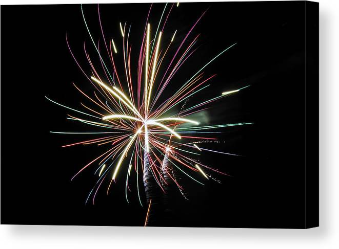 Fireworks Canvas Print featuring the photograph Celebration by Gene McKinley