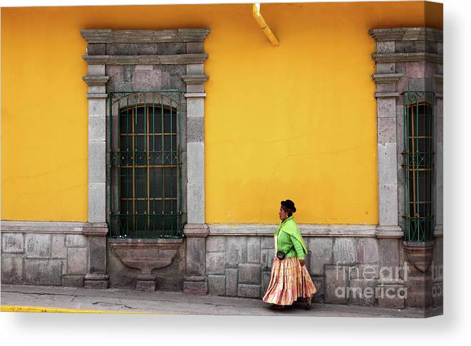 Peru Canvas Print featuring the photograph Colonial Puno by James Brunker