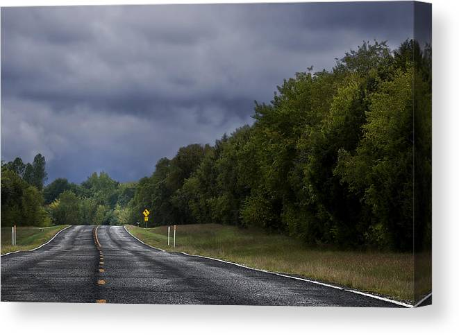 Road Canvas Print featuring the photograph Down The Road by Mark McKinney