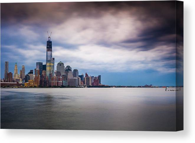 Freedom Tower Canvas Print featuring the photograph Freedom Tower Over The Hudson by Chris Halford