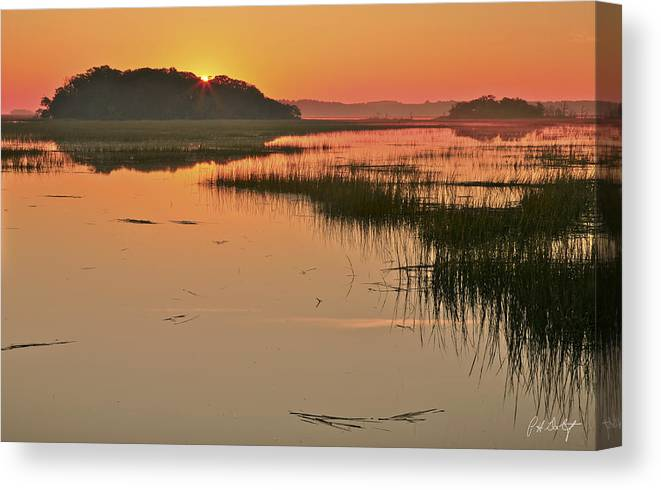 Beaufort County Canvas Print featuring the photograph High Tide Sunrise by Phill Doherty