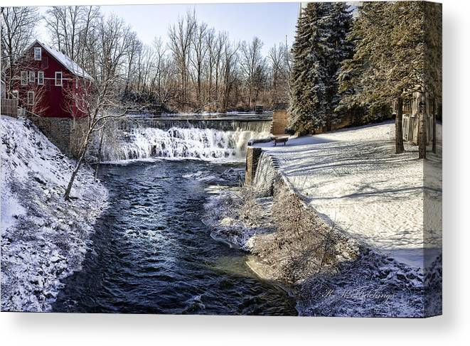 Falls Canvas Print featuring the photograph Honeoye Falls by Keith Hutchings