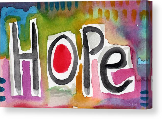 Hope Canvas Print featuring the painting Hope- Colorful Abstract Painting by Linda Woods