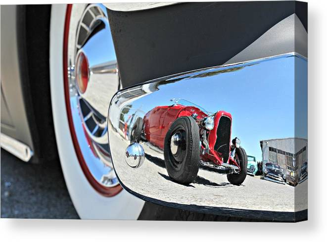 Canvas Print featuring the photograph Hot Rod Reflecton by Steve Natale