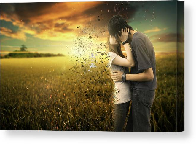 Fantasy Canvas Print featuring the digital art Last Kiss by Lisa Mccullough