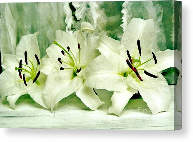 Photo Canvas Print featuring the photograph Lily Family by Marsha Heiken