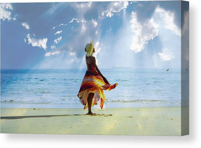 Landscape Canvas Print featuring the photograph Matter The Of The Self by Sahmia Parks