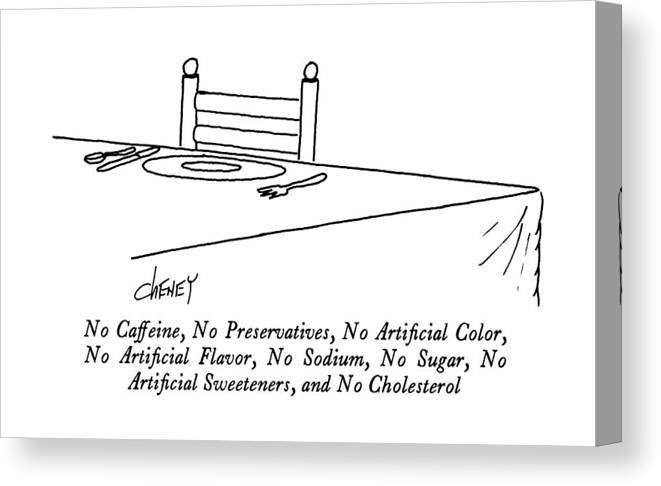 No Caffeine Canvas Print featuring the drawing No Caffeine by Tom Cheney