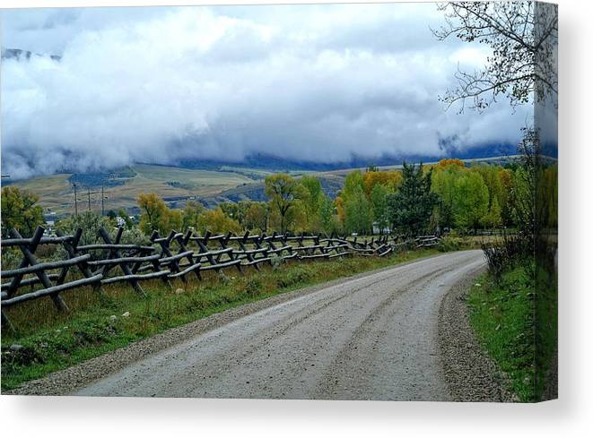 Palisades Canvas Print featuring the photograph The Country Road by Image Takers Photography LLC - Carol Haddon
