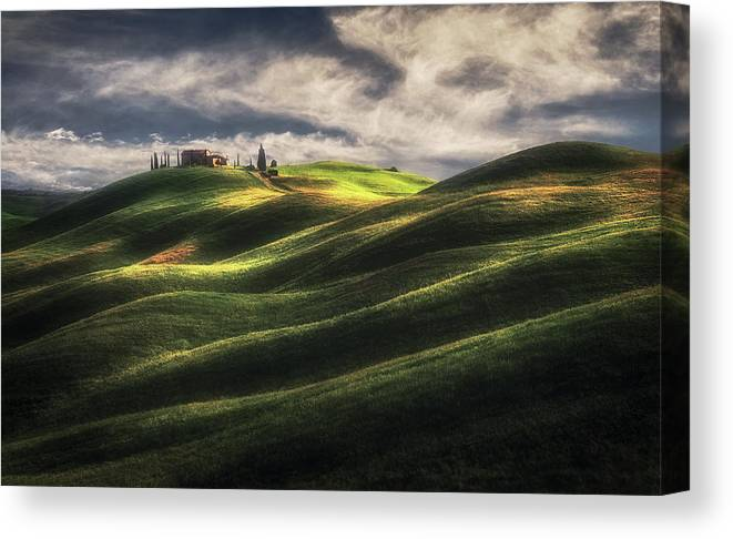 Tuscany Canvas Print featuring the photograph Tuscany Sweet Hills. by Massimo Cuomo