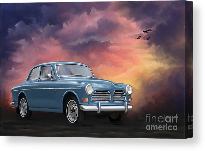Volvo Amazon Canvas Print featuring the painting Volvo Amazon by Linton Hart