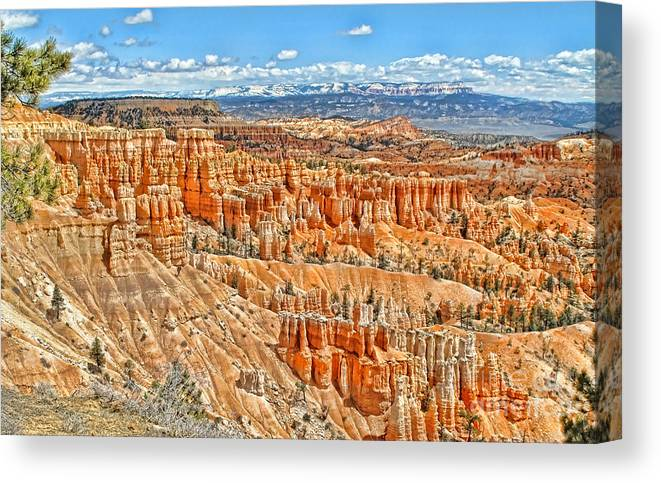 Canyon Canvas Print featuring the photograph Amphitheater by Jason Abando