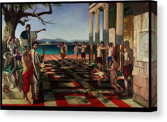 Akt Canvas Print featuring the painting Martyrs by Martin Imrich