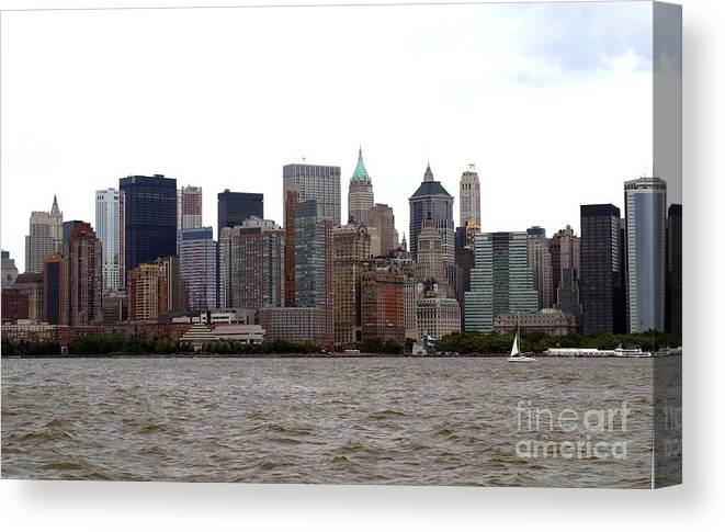 Multiple Buildings Canvas Print featuring the photograph Multi Color Nyc Buildings by Living Color Photography Lorraine Lynch