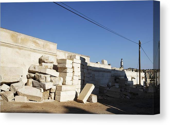Interesting Canvas Print featuring the photograph Tall Shadows Goreme Streets by Kantilal Patel