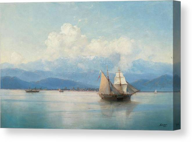 Aivazovsky Canvas Print featuring the painting Ships by MotionAge Designs