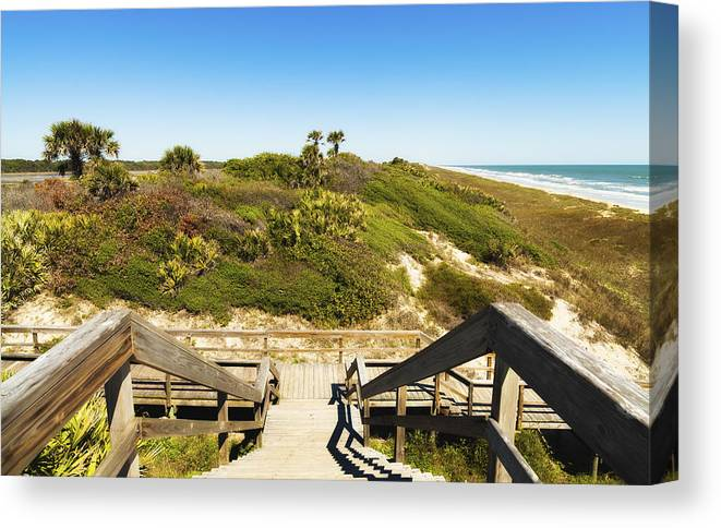 Atlantic Ocean Canvas Print featuring the photograph Ponte Vedra Beach by Raul Rodriguez