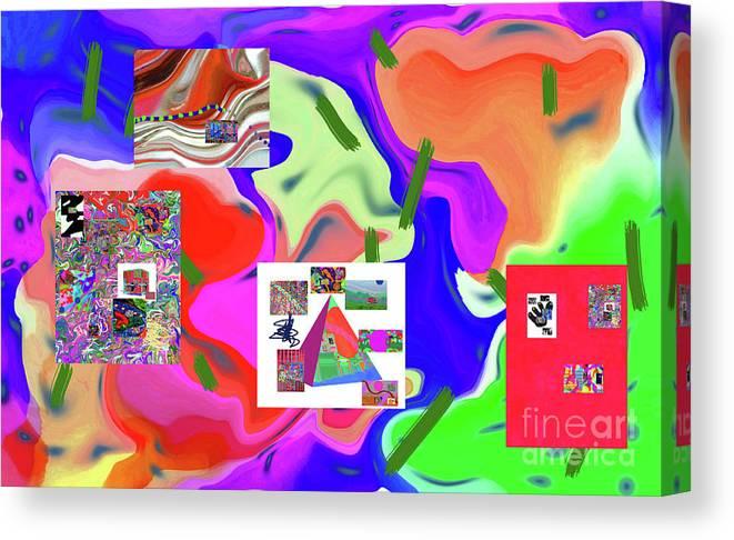 Walter Paul Bebirian Canvas Print featuring the digital art 6-19-2015dabcdefghijklmnopqrtuvwxyzabcdefg by Walter Paul Bebirian
