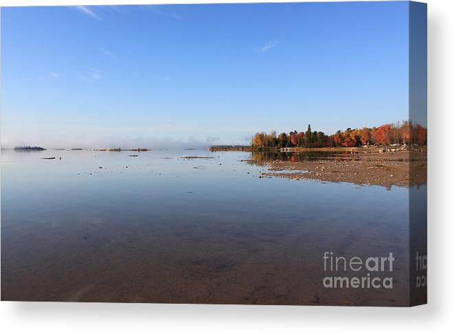 Canada Canvas Print featuring the photograph A Time To Reflect by Cathy Beharriell