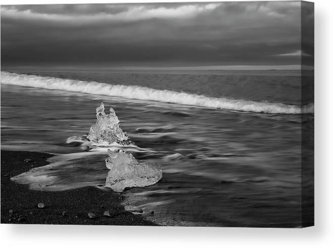 Iceland Canvas Print featuring the photograph Black Sand Beach by Nicholas Palmieri