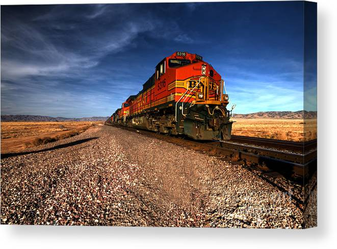 Bnsf Canvas Print featuring the photograph Bnsf Freight by Rob Hawkins