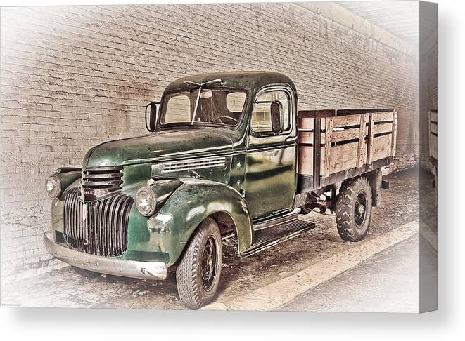 Truck Canvas Print featuring the digital art Chevy Truck by Ches Black