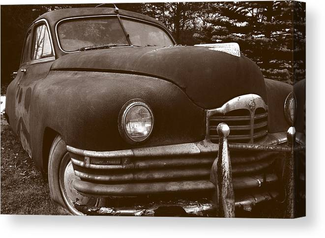 Old Car Canvas Print featuring the photograph Chocolate Moose by Jean Macaluso