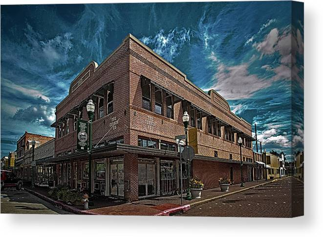 Hdr Color Photography Canvas Print featuring the photograph Corner Pub by Wayne Denmark