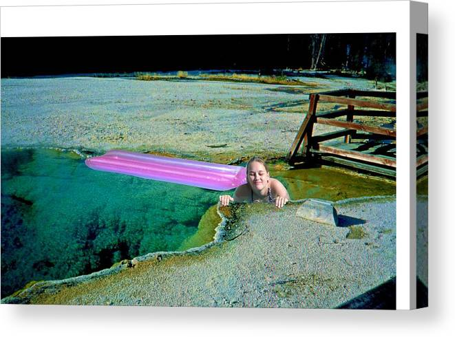 Yellowstone Nat\'l Park Canvas Print featuring the photograph Heated Pool by Ingrid Stiehler