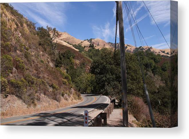 California Canvas Print featuring the photograph Highway 1 by Benji Alexander Palus