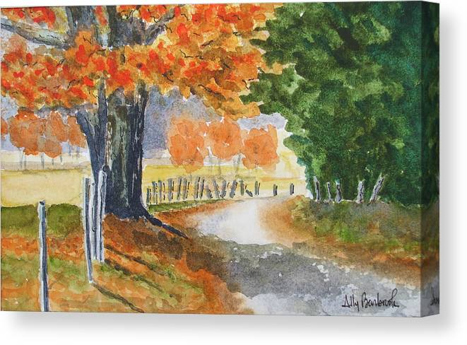 Autumn Canvas Print featuring the painting Indian Summer by Ally Benbrook