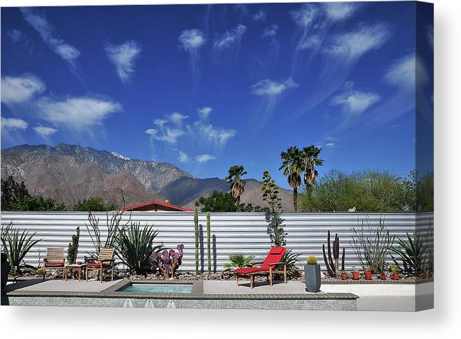 Clouds Canvas Print featuring the photograph Jelly Fish Clouds In Palm Springs I by David A Lee