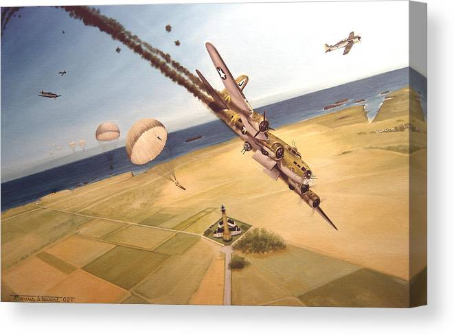 Aviation Canvas Print featuring the painting Mehitabel by Marc Stewart