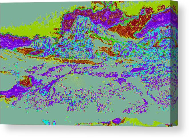 Canvas Print featuring the digital art Modified Mountain Ddd4 by Modified Image