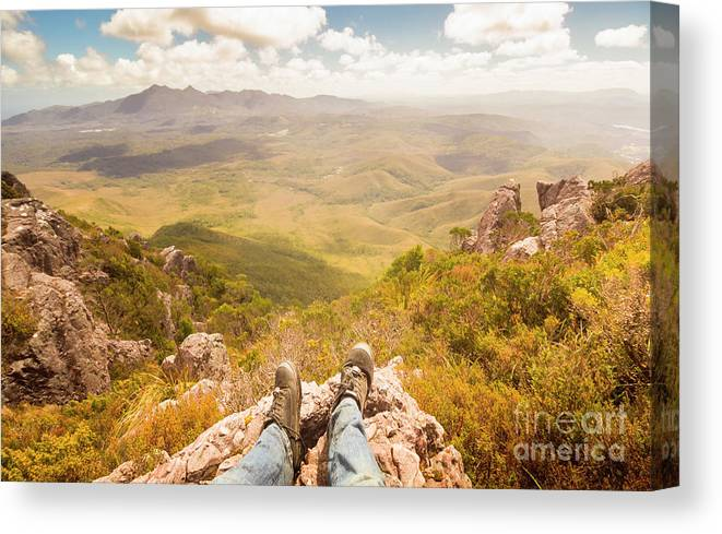 Australia Canvas Print featuring the photograph Mountain Valley Landscape by Jorgo Photography - Wall Art Gallery