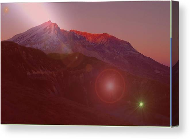 Mountains Canvas Print featuring the photograph Mt St Helens by Jeff Swan