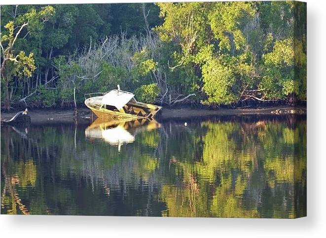 Shop Canvas Print featuring the photograph Ship Wreck by Diane Luke