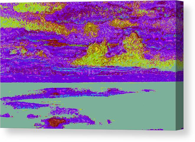 Canvas Print featuring the digital art Sky Water D4 by Modified Image